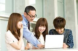 イメージ:学習管理やアドバイスなど大原がサポート
